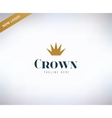 Crown shape logo icon King leader boss vector image vector image