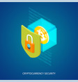 cryptocurrency security concept vector image vector image