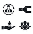 customer retention marketing icon set simple vector image vector image