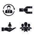 customer retention marketing icon set simple vector image