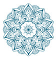 decorative floral round mandala vector image vector image