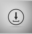 download icon isolated upload button load symbol vector image vector image