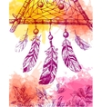 dream catcher sketch vector image vector image