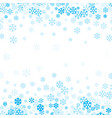 falling snow background for christmas and happy vector image