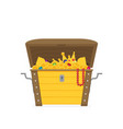 flat open treasure chest isolated flat design vector image