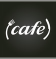 fork and knife cafe emblem vector image vector image