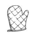 glove kitchenware accessory monochrome vector image vector image