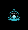 golf emblem tournament logo vector image