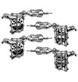 graphic black and white tattoo machine set vol 7 vector image vector image
