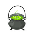 halloween witch s cauldron with potion vector image