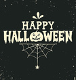 Hand drawn Happy Halloween lettering vector image vector image