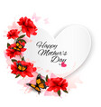 happy mothers day note with colorful flowers vector image