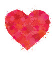 heart watercolor paint of splatter vector image vector image
