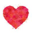 heart watercolor paint splatter vector image