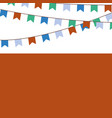 holiday background with blue orange green flags vector image