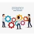 icon efficient management design isolated vector image