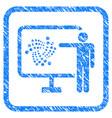 iota project presentation framed stamp vector image vector image