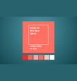 living coral color year vector image vector image