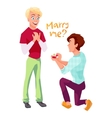 Marriage proposal in gay couple vector image vector image