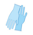 medical latex gloves to protection hands
