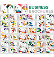 mega set of business brochure design templates vector image vector image