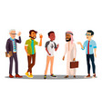 multicultural group of man together vector image vector image
