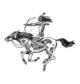 national american indian riding horse with spear vector image vector image