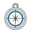 navigation compass tool vector image vector image
