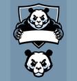 panda in sport mascot vector image vector image