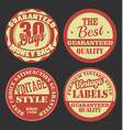 pastel color vintage badges collection 2 vector image vector image