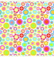 positive bright colorful flowers simple style vector image