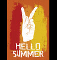 quote typographical background hello summer vector image