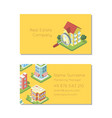 real estate company business card template vector image