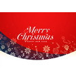 red merry christmas festival background design vector image