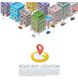 road in cityscape isometric city location vector image vector image