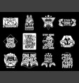 set collection video game apparel designs vector image vector image