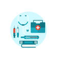 Set modern flat medical icons vector image vector image