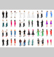 set of isometries of different people vector image