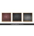 set square chalkboards vector image vector image