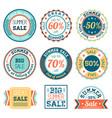 set vintage retro summer sale logos labels vector image vector image