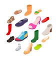 shoes icons set isometric 3d style vector image vector image