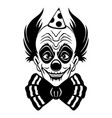 sign scary smiling clown vector image