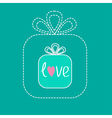 Small gift box in the big gift box Dash line Flat vector image vector image