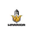 Spartan Warrior Helmet Shield W Retro vector image vector image