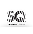 sq s q lines letter design with creative elegant vector image