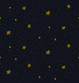 star sky seamless pattern background blue vector image