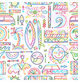 surfing seamless pattern tribal elements for your vector image vector image
