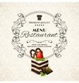 Sweets dessert restaurant menu vector image vector image