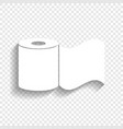toilet paper sign white icon with soft vector image vector image