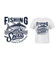 tuna fish mascot t-shirt print mockup vector image vector image